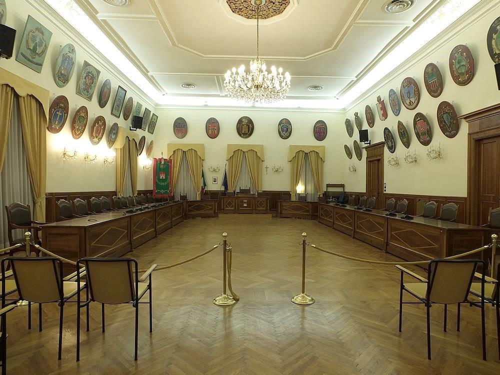 Salone Stemmi del museo del Risorgimento del comune di Castelfidardo